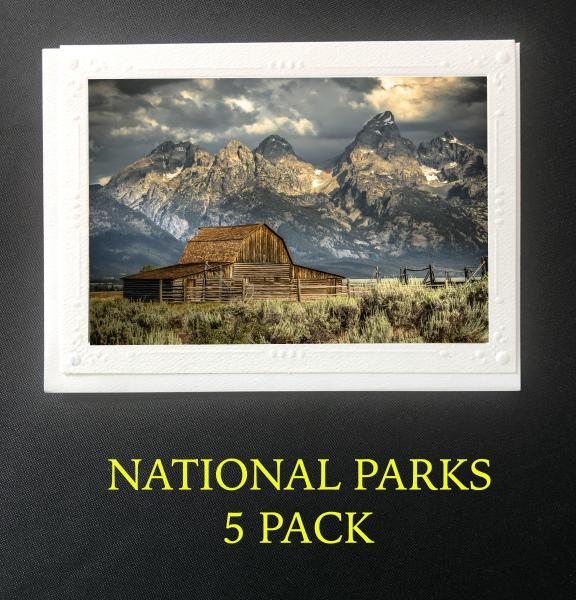 National Park 5 Pack Artisan Note Cards