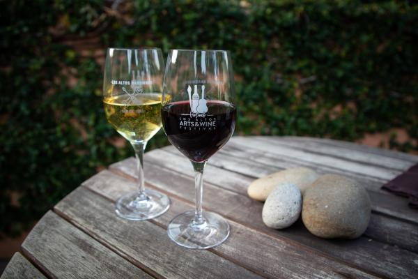 Limited Edition 2020 Los Altos Virtual Arts & Wine Festival Wine Glass
