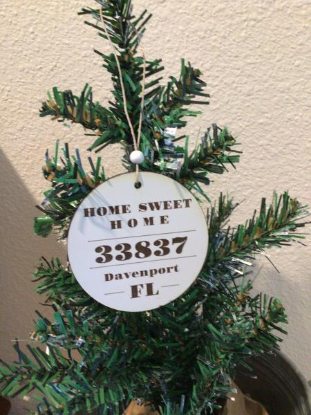 Custom Zip Code Ornament