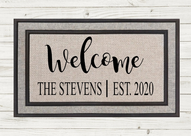 PERSONALIZED WELCOME DOORMAT-  Local Fargo/Mhd pick up available!