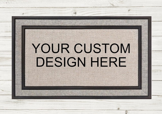 PERSONALIZED DOORMAT- CUSTOM ORDER        Local Fargo/Mhd Pickup Available! picture