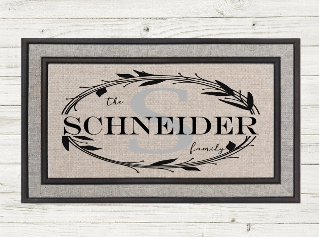 PERSONALIZED MONOGRAM DOORMAT-  Local Fargo/Mhd Pickup Availalble!