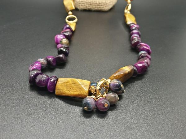 Royal Tiger's Eye Rope Necklace picture