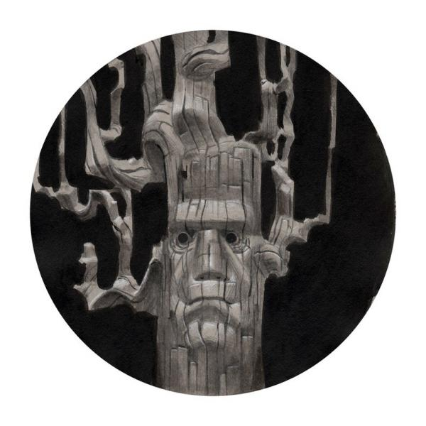Stiff Timber: An Uncanny Forest Ent Painting