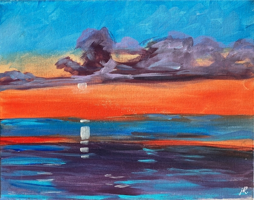 Sunset Over the Water - Limited Edition Giclee