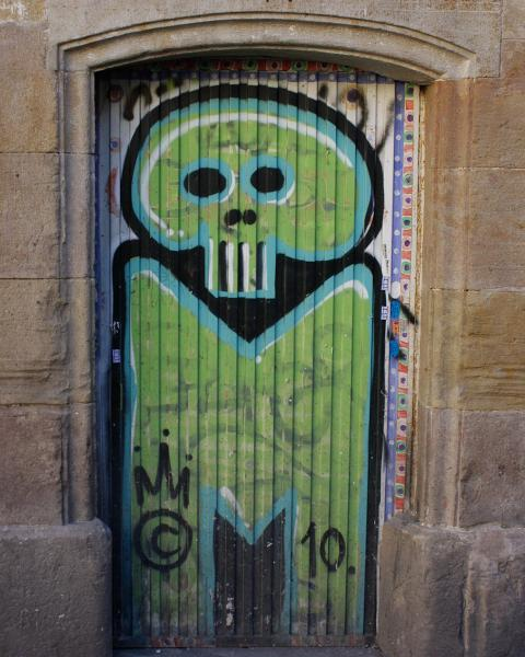 Green Graffiti in Barcelona