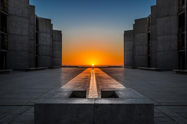 Salk Autumnal Equinox Sunset - Metal Print