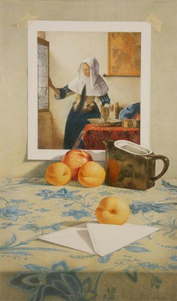 Apricots with Vermeer