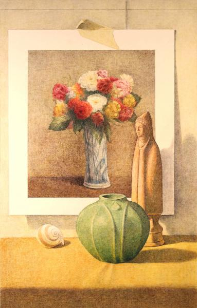 Green Vase with LaTour picture