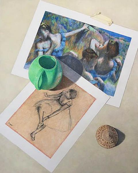 Vase and Shell with Degas picture