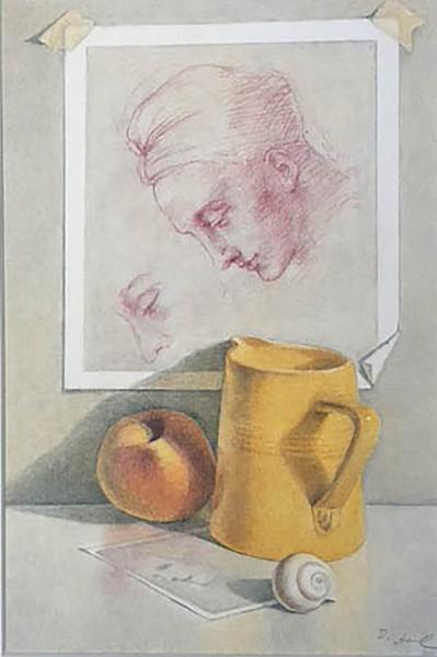 Yellow Pitcher with Michelangelo