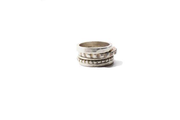 Sterling SilverRomantoc Stack Rings (5)
