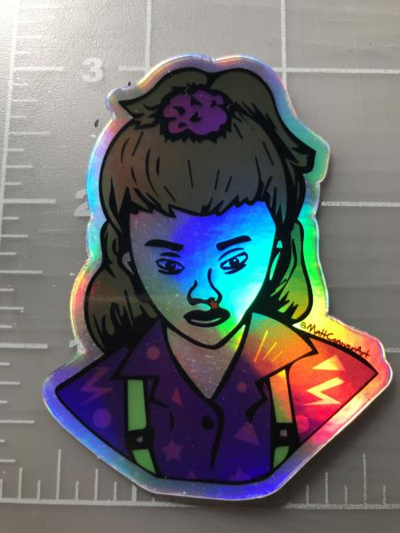 Eleven Stranger things 80s Holographic Printed Vinyl Sticker