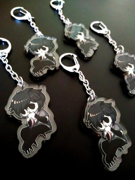 Gloomy Creepypasta SCP Spooky Scary Monster OC Keychain Accessory