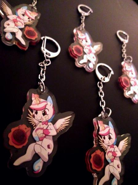 Funfetti MLP My Little Pony OC Alicorn Unicorn Keychain Accessory
