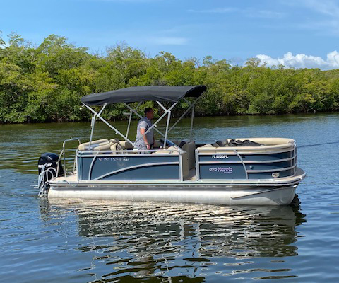 Boat 6 - Harris 22 ft Pontoon