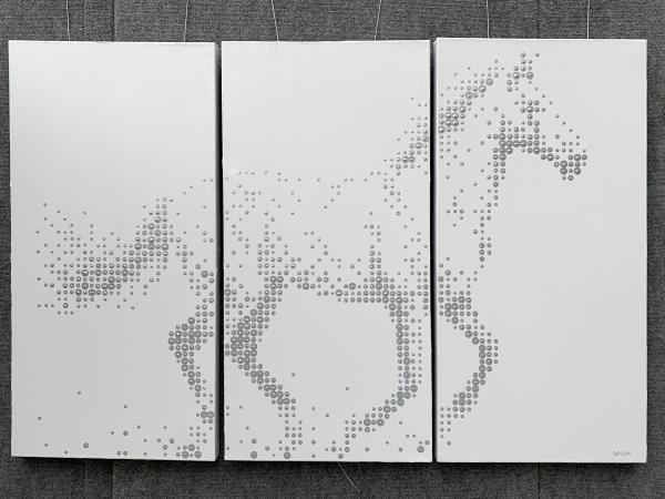 """CHASING THE MOON"" (54"" X 36"" TRIPTYCH)"
