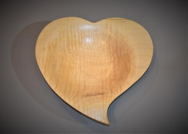 "Tiger Maple Curved Heart 12"" B1968 picture"