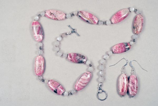 Rhodochrosite and Moonstone Necklace