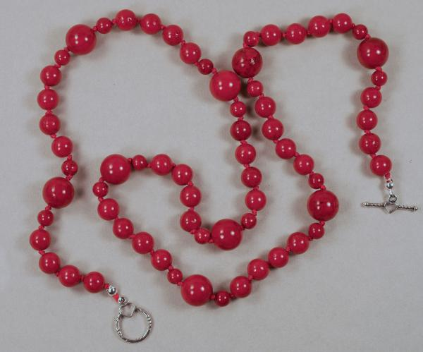 "Red ""Fossil Rock"" Necklace 23"""