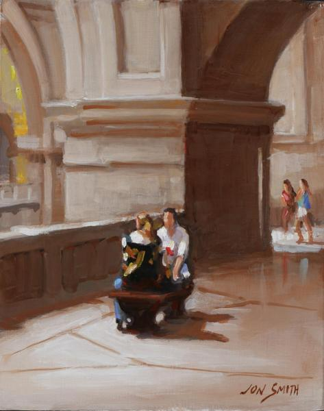 Balcony at the Met - 11x14 Original Oil picture