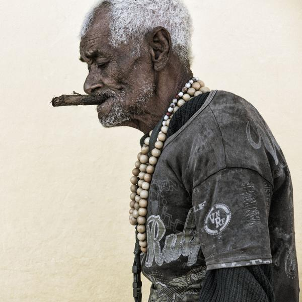 Old Man with Cigar