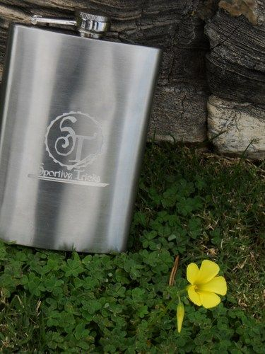 8 oz. Stainless Steel Flask with Logo