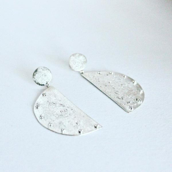 Textured Sterling Earrings with Granulation
