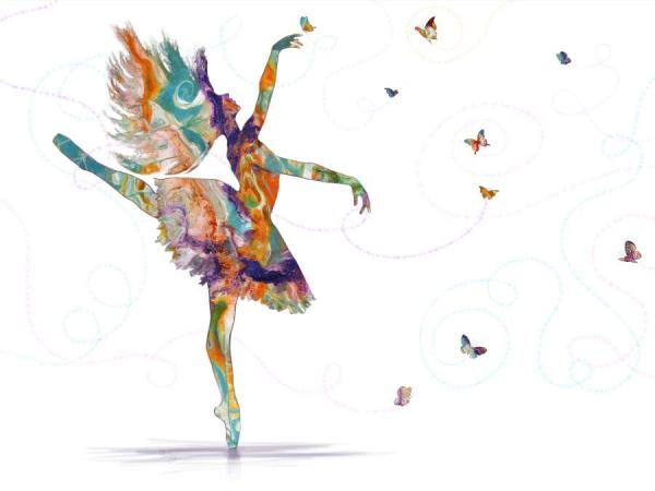 Print of Butterfly Dancer