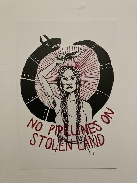 No Pipelines on Stolen Land Print picture
