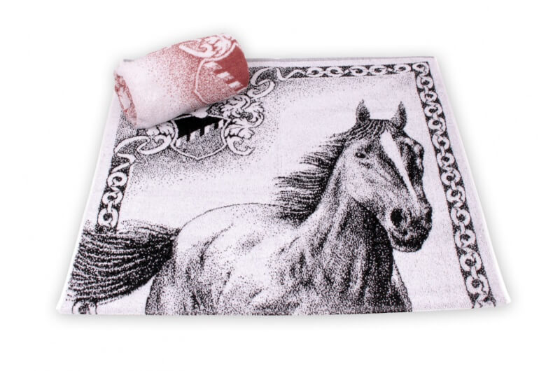 Horse Jacquard Bath Towel - Large