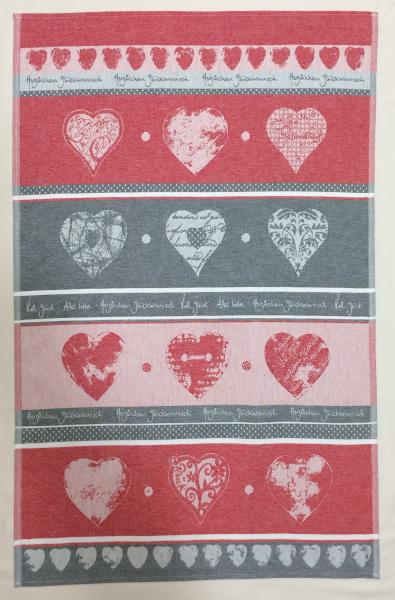 Hearts Jacquard Tea Towel / Wall Art