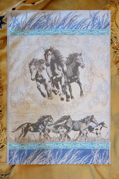 Wild Mustang Trio Jacquard Tea Towel / Wall Art