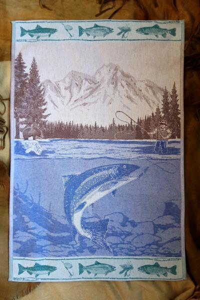 Fishing Jacquard Tea Towel / Wall Art