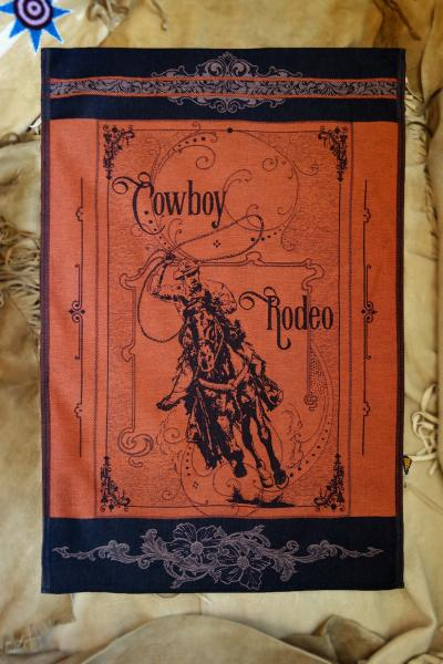 Cowboy Rodeo Jacquard Tea Towel