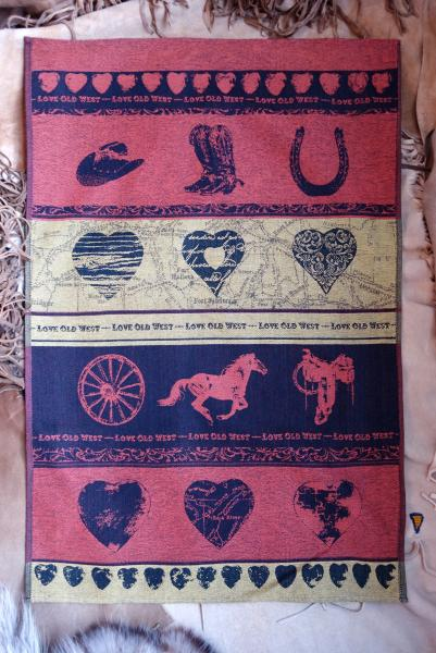 Love Old West Jacquard Tea Towel / Wall Art