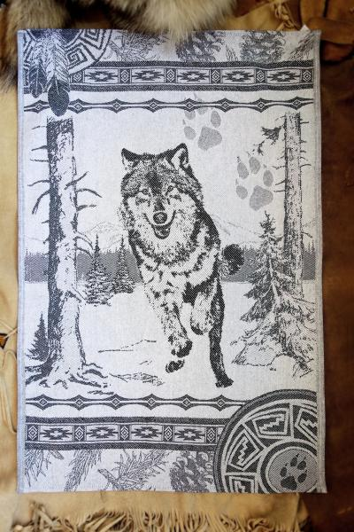 Wolf Jacquard Tea Towel / Wall Art