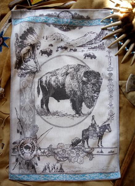Buffalo Jacquard Tea Towel / Wall Art