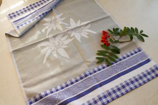 Edelweiss Jacquard Tea Towel / Wall Art