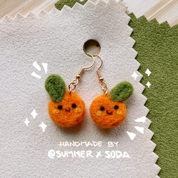 Happy Oranges earrings