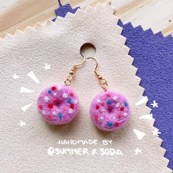 Strawberry Donuts earrings
