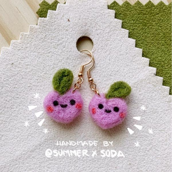 Happy White Peaches earrings