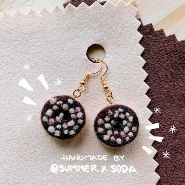 Chocolate Donuts earrings