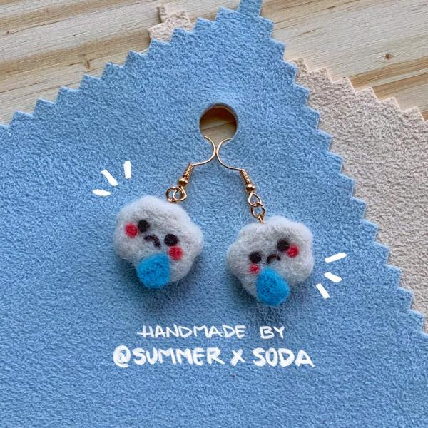 Sad Clouds earrings