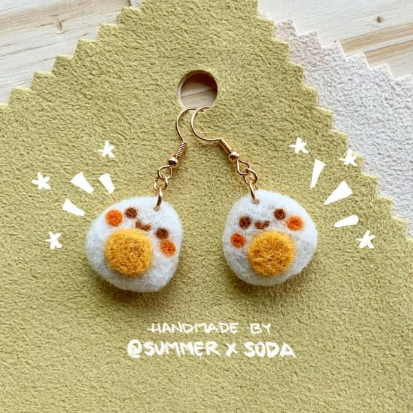 Happy Fried Eggs earrings