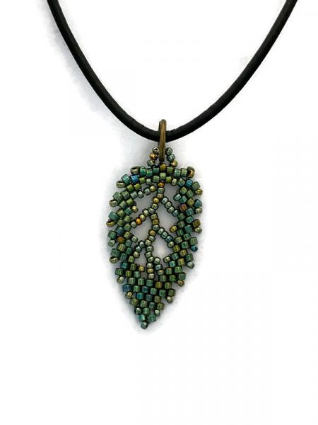 Megan Horan beaded leaf necklace picture