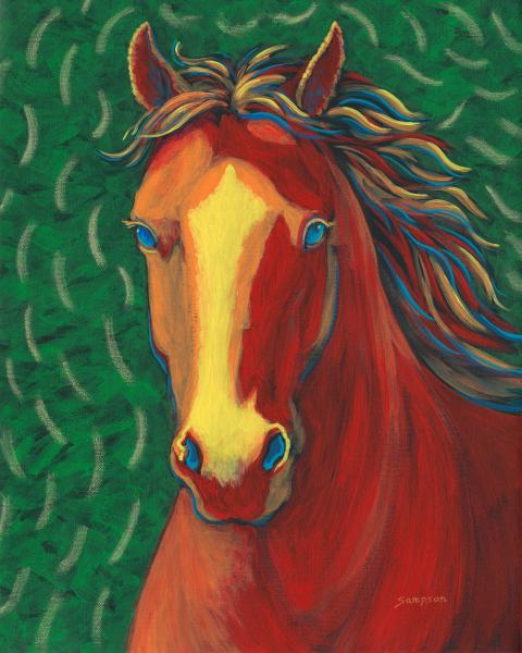 Red Wine Horse