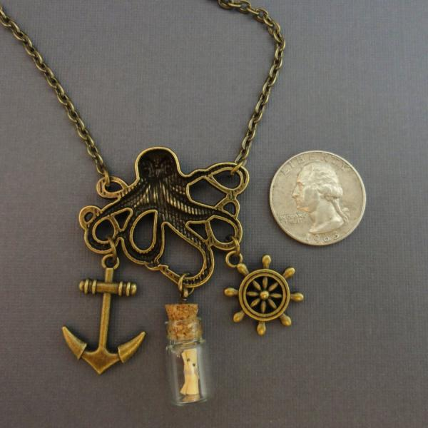 Nautical Octopus Necklace | Kraken of the Sea picture