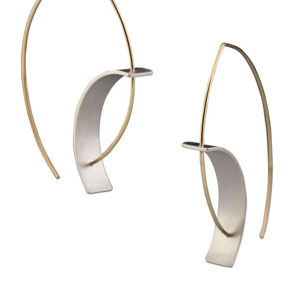 Tension Earring 18k/matte silver picture