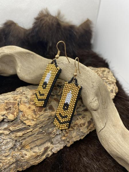 Beaded 24k Earrings